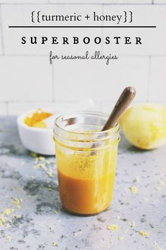 Turmeric + Honey Super Booster for Seasonal Allergy Support | With Food + Love | #allergyrelief #naturalallergyrelief #turmeric