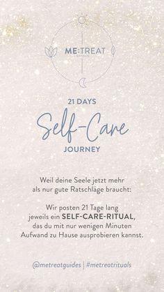 21 Days Selfcare Journey: Selbstfürsorge in Krisenzeiten – Start April Journey, Self Care, Planer, Day, Instagram, Do Good, 21 Days, Healing, Submission