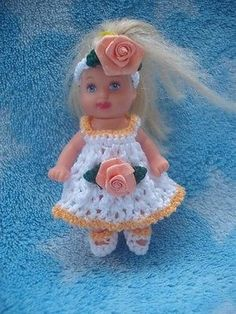 Dress Panties Shoe Hat Handmade Crochet Clothes Barbie Baby Krissy 2 5 Doll Toys | eBay