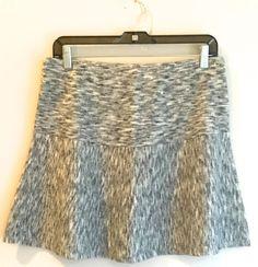 Theory knit skirt, black and white, size Medium, Free Shipping    eBay