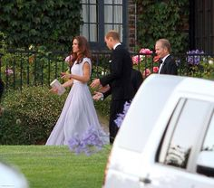 I've never seen this angle before - love how the lavender flowers blend in with her dress!