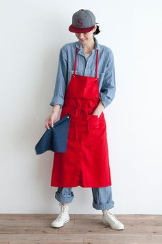 COTTON TWILL COLOR APRON (Long)