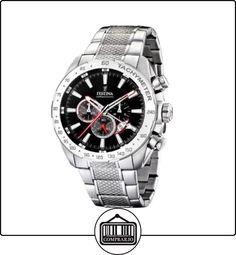 FESTINA Chrono F16488/5 - Reloj de caballero de cuarzo, correa de acero inoxidable color plata de  ✿ Relojes para hombre - (Gama media/alta) ✿
