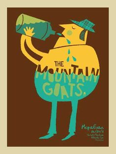 MOUNTAIN GOATS SCREEN PRINT « Limited Edition Gig Posters « Methane Studios