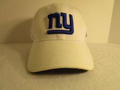 3c77ca4f3ed NY GIANTS NFL Ball Cap Hat Adjustable Reebok White w  Royal Blue