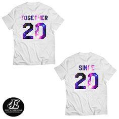 Matching Couple, Together Since shirt, Anniversary Shirts, Mr And Mrs Shirts, Matching Shirts, Married Since Shirts, Matching Couple Shirts #together #since #mrandmrs #togethersince #marriedsince #customshirts #personalized #couple #couples Matching Couple Shirts, Matching Couples, Mrs Shirt, Custom Shirts, Anniversary, Tops, Fashion, Custom Tailored Shirts, Moda
