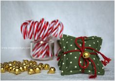 Lavanda e cuscinetti natalizi