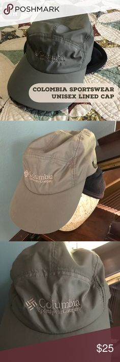 🌼 Columbia Sportswear Lined Unisex Cap This is like two caps in one! The furry, warm black  polyester lining snaps into the khaki green nylon cap. Each can also be worn individually.  From a smoke-free and happy-to-bundle closet.  No trades or transactions outside of Poshmark. [G104] (Cross listed under men's) Columbia Accessories Hats