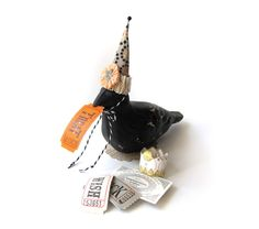 """Handmade """"A Crow For All Season Seasons"""" Vintage Style Paper Mache Candy Container, With Whimsical Accessories For Different Occasions by TeaWithPavlova on Etsy https://www.etsy.com/listing/208038459/handmade-a-crow-for-all-season-seasons"""