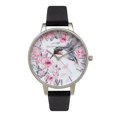 Watch Hummingbird Dark Grey A& Silver/Montre Colibri Gris & Argent - Boutique Vestibule