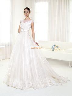 Bateau/Båtringning Timglas Tyll Bröllopsklänningar 2014