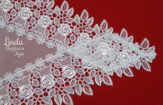 Véu ccb redondo diferenciado lindo!!! <br>Aplicações bordadas 12 cm de largura <br>FIló Verona 90% algodão 10% pliéster <br>Aplicações 100% poliéster