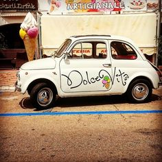 "Today we were in Nuoro, Oliena and finally Cala Gonone :) at ""dolce vita""  we enjoyed a really good Pizza   #dolcevita #italy #sardegna #calagonone #roadtrip #wonderfulisland #greathere #enjoymoment #fiat500 #cinquecento #gelato #picoftheday"
