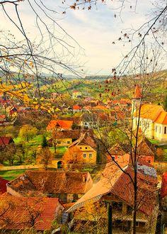 Cisnadiora, Romania - oh man! do I love these colors.