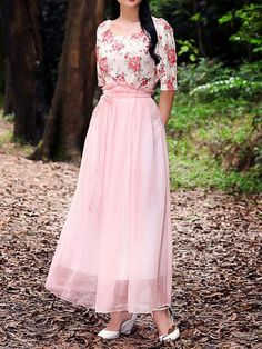 Elegant Lace Round Collar Slim Dresses_Maxi Dress_DRESSES_Wholesale clothing, Wholesale Clothes Online From China