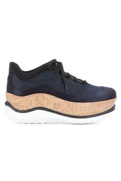 Miu Miu Nacy Satin Cork Platform Sneakers. Buy it now: http://fave.co/2bt0TgJ  Dieses Produkt und weitere MIU MIU Taschen jetzt auf www.designertaschen-shops.de/brands/miu-miu entdecken