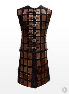 Long Leather Brigandine brown & black - maskworld.com