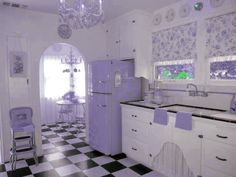 rebloggy.com post vintage-50s-purple-retro-pin-up-rockabilly-1950-kitchen-homes-1960-vintage-kitch 82607929443