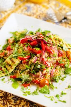 Grilled Vegetable Quinoa Salad - Vegan & Gluten Free - WendyPolisi.com