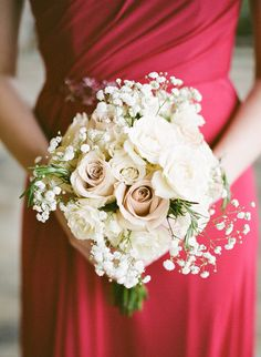 Classy Red and White Winter Wedding - Fab You Bliss