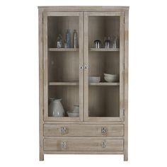 Freedom Furniture Cancun Display Cabinet White Wash