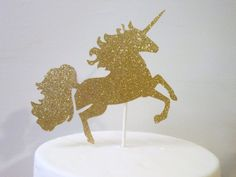 Glittered Unicorn Cake Toppers