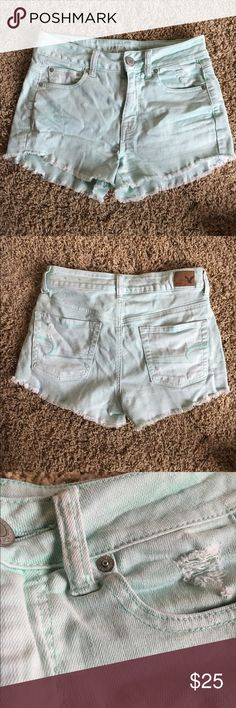 American Eagle Shorts MINT shorts. The color is a tad darker than they appear in the pictures. American Eagle Outfitters Shorts Jean Shorts