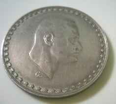 United arab republic Egypt 1 pound SILVER 1970 Gamal abdel nasser coin