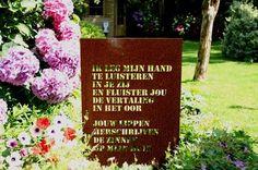 Jan - Clemens Lampe - Gedichten in cortenstaal van Jan-Clemens Lampe