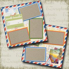 2 Premade Scrapbook Pages EZ Layout 849 GRADUATE