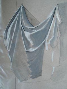 drapé Drapery Drawing, Fabric Drawing, Fabric Painting, Painting & Drawing, Academic Drawing, Shading Drawing, Still Life Drawing, Renaissance Paintings, A Level Art