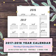 Printable Calendar  Calligraphy Calendar Planner  Pdf A