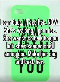 I wish my guy friend would text me first for once. Crush Quotes, Mood Quotes, Life Quotes, Funny Quotes, Quotes Quotes, Qoutes, Text For Her, Text Me, Crush Texts