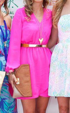 Lilly Pulitzer Whitaker Wrap Dress styled by @Palm Beach Lately Fashion Moda, Womens Fashion, Dress Skirt, Wrap Dress, Chic, Summer Dresses, Pink Dresses, Pretty Dresses, Casual Dresses
