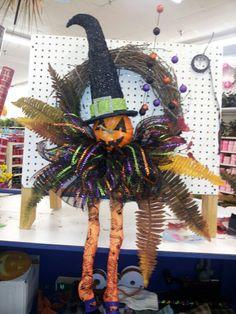 Halloween fun grapevine wreath