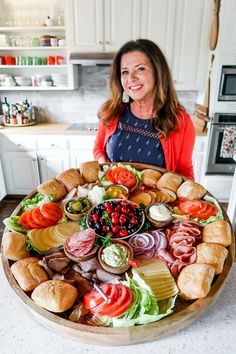 Epic Sandwich Charcuterie Board for easy hosting and Christmas parties . - Epic Sandwich Charcuterie Board for easy hosting and Christmas parties … - Charcuterie And Cheese Board, Charcuterie Platter, Cheese Boards, Charcuterie Display, Charcuterie For Dinner, Crudite Platter Ideas, Charcuterie Wedding, Cheese Board Display, Charcuterie Recipes