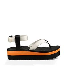 Teva Womens Flatform Platform Ankle Sandal WhiteOrange 9 M US -- Be sure to check out this awesome product.