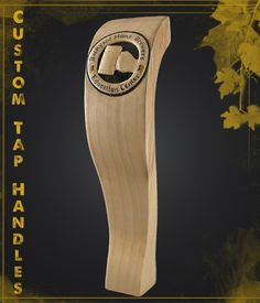 Custom tap handle featuring the Backyard Homebrewers logo