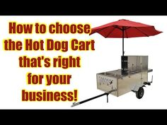 If you're looking for a hot dog cart for sale or wondering how to start a hot dog cart business, take a couple of minutes to watch this short and insightful . Hauling Trailers, Cargo Trailers, Big Hot Dog, Hot Dogs, Pull Behind Motorcycle Trailer, Hot Dog Cart, Trailer Hitch, Health Department, Vintage Motorcycles