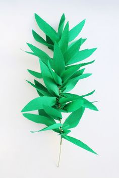 Make a greenery garland! Perfect for holidays and parties! Crepe paper leaf...  Read more »
