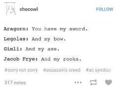 LOTR/ACS I just died, this is too awesome.