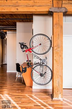 Feather Factory Lofts-2154 Dundas St W #107 | One-of-a-kind bright large authentic 1070 sf 2 bedroom SE corner loft with wrap around windows! | More info here: torontolofts.ca/feather-factory-lofts-lofts-for-sale/2154-dundas-st-w-107-2 Exposed Brick Walls, Post And Beam, Wood Ceilings, Lofts, Feather, Corner, Bright, Windows, Bedroom