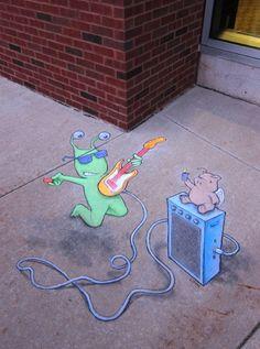 【画像】街の地下で暮らす小さな生き物Sluggo 歩道や壁に描かれたかわいいチョーク・アート   IRORIO(イロリオ) - 海外ニュース・国内ニュースで井戸端会議