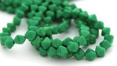 Opaque Green 6mm Bicone Czech Glass Beads 50pc 2023 by DrBead