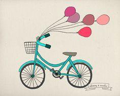 Bike & Ballons - Sarah Frances