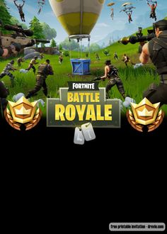 Welcome to Fortnite Battle Royale party! Celebrate your birthday with our free printable Fortnite birthday invitation template! Celebrate your birthday party with your favorite game, and save the money. Free Printable Invitations Templates, Free Printable Birthday Invitations, Templates Free, Halloween Party Drinks, 9th Birthday Parties, Boy Birthday, Outdoor Birthday, Battle, Wedding Templates