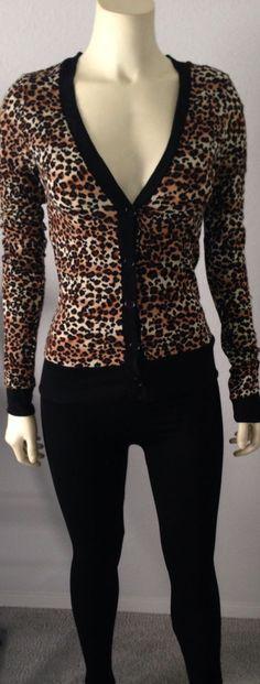 Leopard Sweater Cardigan-Black or Brown-Fashion- Animal Print- FREE SHIPPING! #HeartsHips #Cardigan