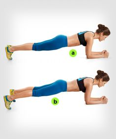 Plank Jumping Jacks  http://www.womenshealthmag.com/fitness/plank-exercise?slide=4