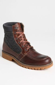 Guys: Wolverine 'birch' moc toe boot. Comfortable, durable and stylish.