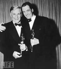 Father-and-Son Act  Father and actor Walter and son and director John Huston hold the Oscars won for their work on The Treasure of the Sierra Madre, 1949.
